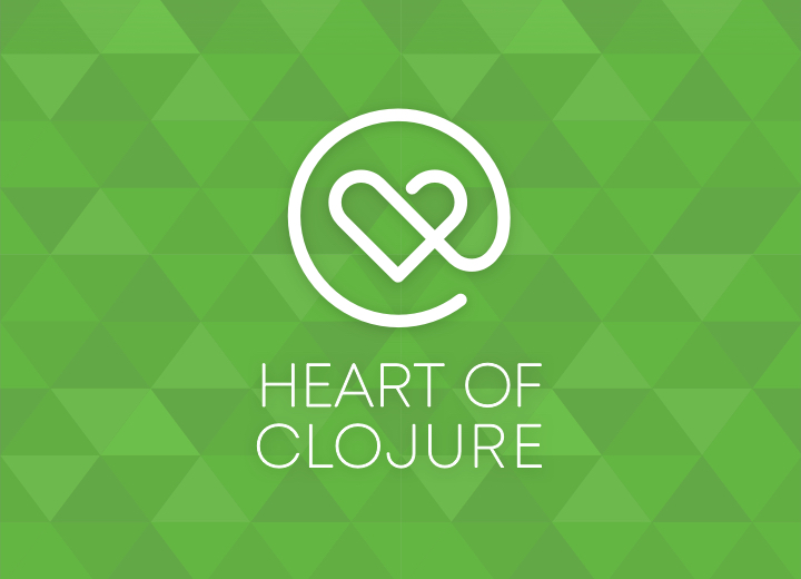 Simple monogram logo for Heart of Clojure conference in Belguim