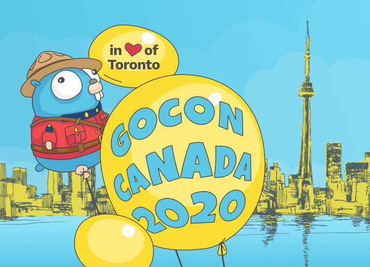 GoCon 2020 projects with Mountie Gopher and balloons